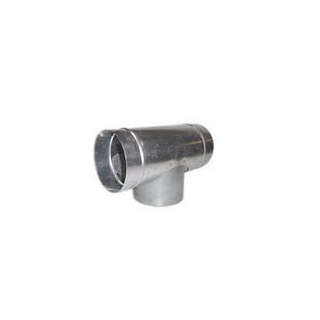 T métal ventilation Ø125mm
