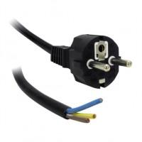 Câble secteur 2m - 3x1.5mm - Terre + dénudé